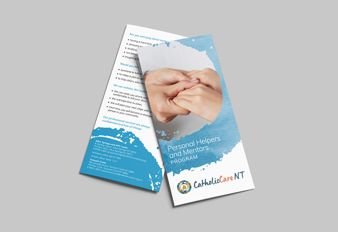 CatholicCare NT Flyer Branding Corporate Design