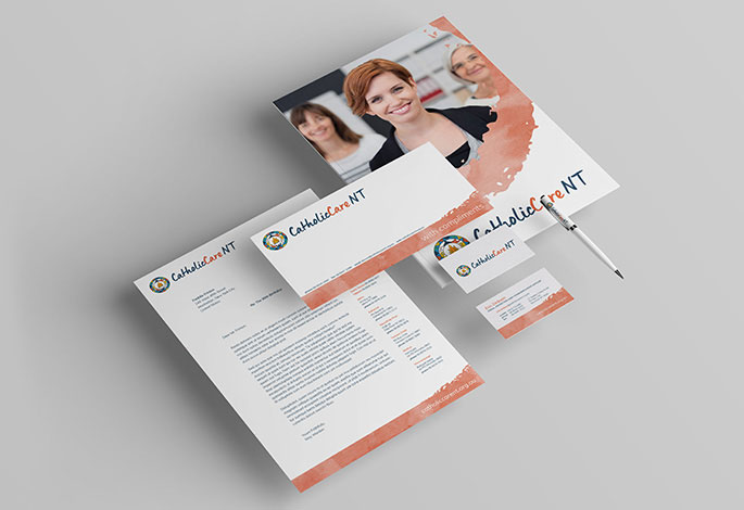 CatholicCare NT Stationery Branding Corporate Design