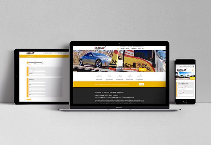 Top End Towing website