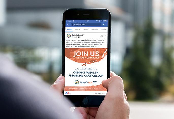 CatholicCare NT Social Media Template Branding Corporate Design