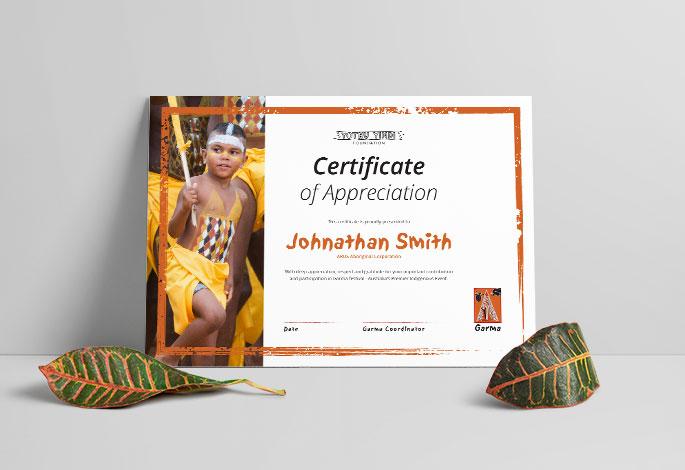 Garma YYF Certificate