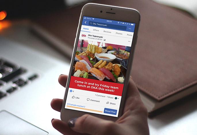 OKA Teppanyaki Facebook Social Media Marketing
