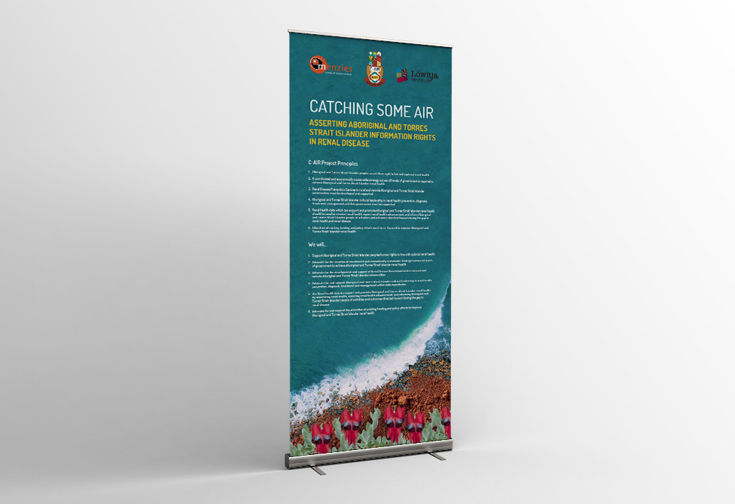 Menzies Catching Some Air Pull Up Banner Roll Up Display