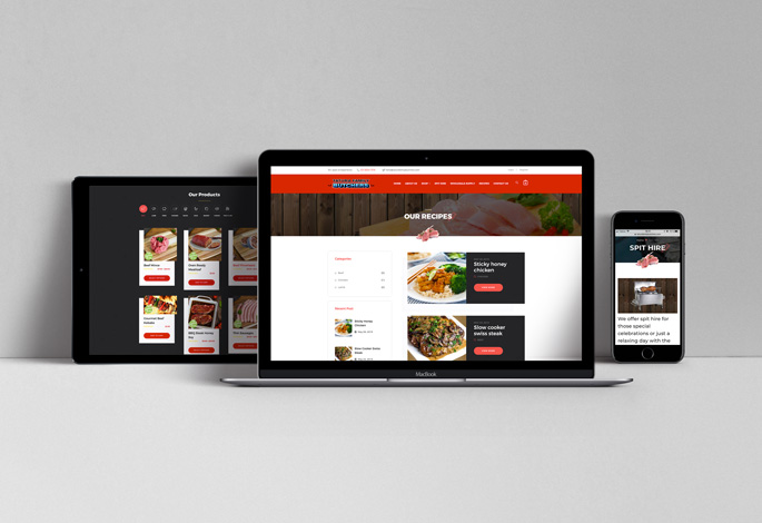 Tatura Family Butchers Website Mobile iPad