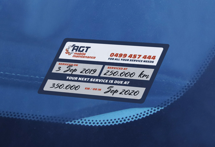 AGT mobile maintenance Service Sticker