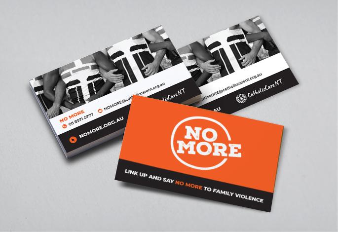 NO MORE business cards