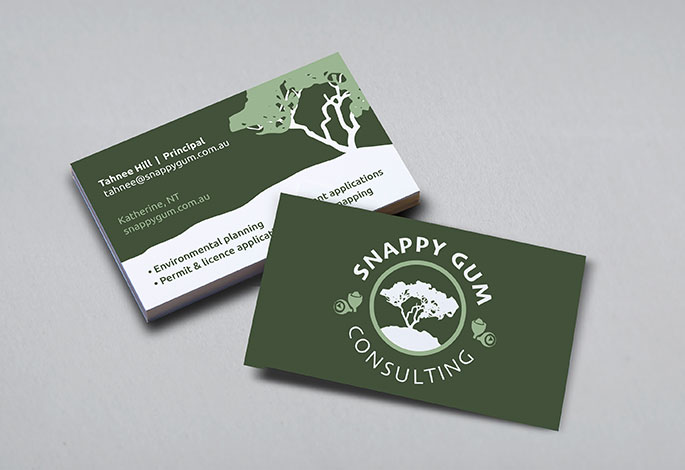 Snappy Gum Consulting Business Cards